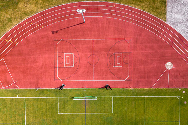 Terrain d'athlétisme